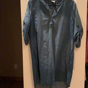 Paper Crane T-shirt chambray dress